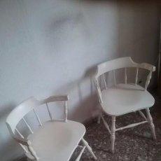 Vintage: SILLA - SILLONES ANTIGUOS EN COLOR BLANCO ORIGINALES DE LOS AÑOS 50 - 60. DISEÑO ESCANDINAVO. . Lote 98726395