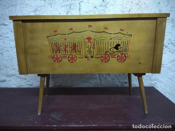 Baul caja banco infantil de madera para guarda comprar for Baul madera infantil