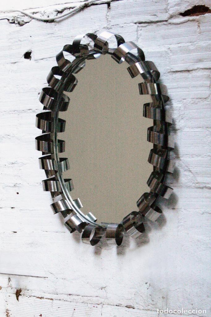 Espejo tipo sol plateado transporte gratis comu comprar for Espejo vintage plateado