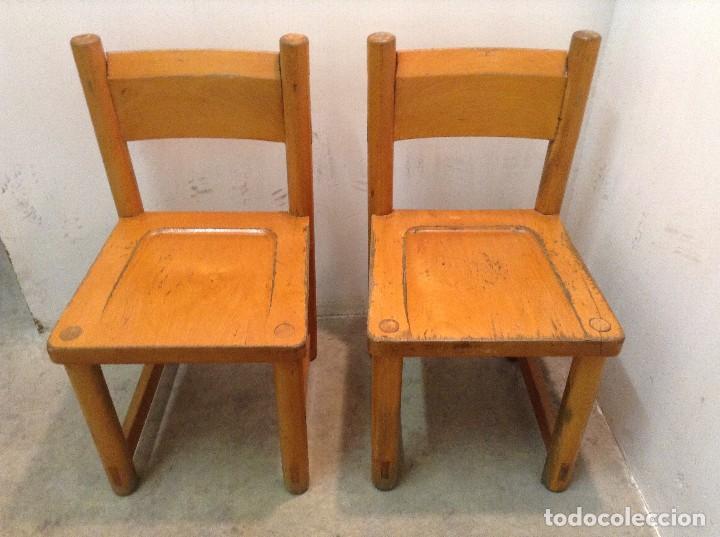 sillas pequeñas de madera niño guarderia - Comprar Muebles vintage ...