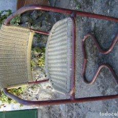 Vintage: SILLA DE HIERRO Y MIMBRE EN BUEN ESTADO SILLA DE DISEÑO AÑOS 60 50X50 X75 UNICA. Lote 100096855