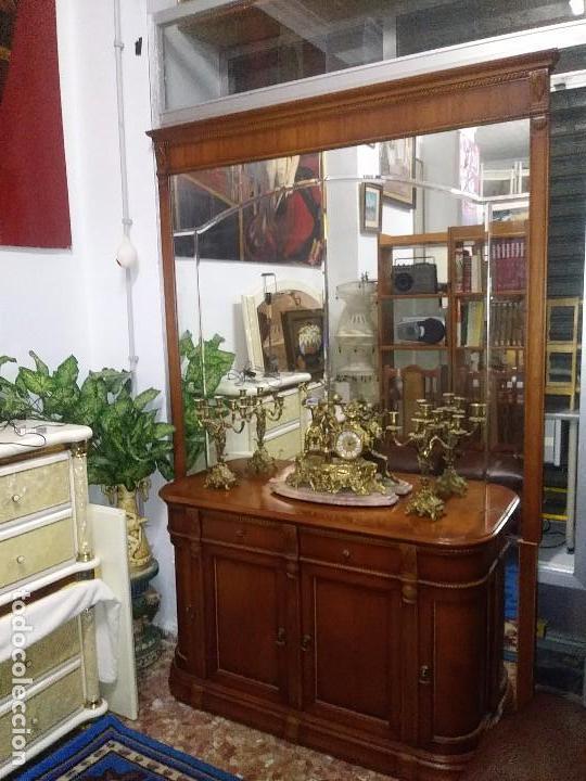 Vintage: CONSOLA,APARADOR, CÓMODA CON UN MURAL DE ESPEJO BISELADO - Foto 8 - 100197011