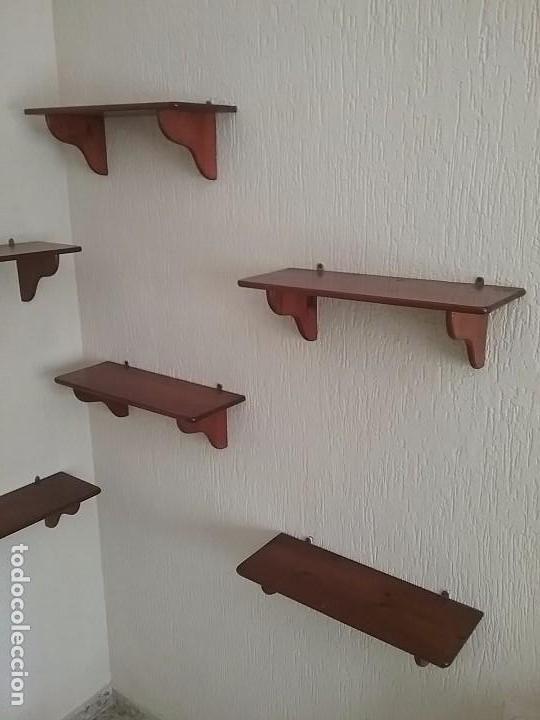 Lejas estanteria antigua balda repisa antigua b comprar muebles vintage en todocoleccion - Baldas de madera ...