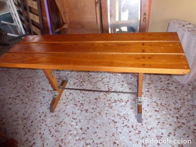 Mesa alargada de madera de pino liquidacion po comprar for Muebles oficina baratos liquidacion por cierre