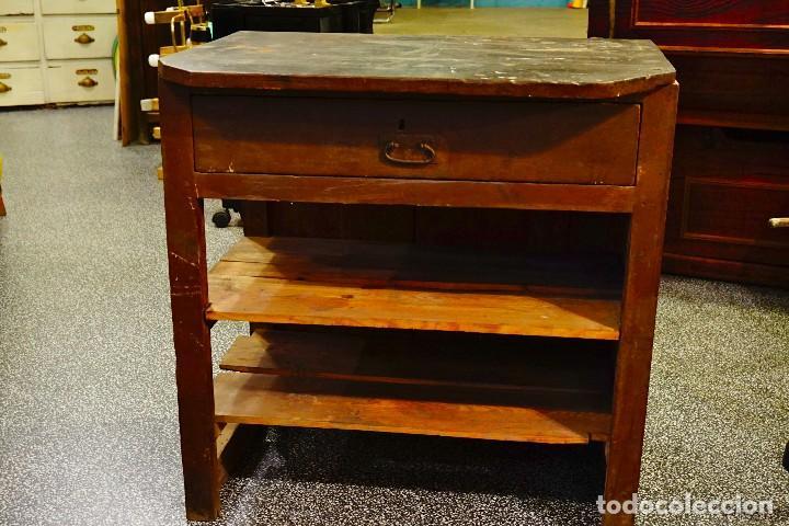 Mesa trabajo madera tocinera cocina vintage ant vendido en venta directa 100638243 - Mesa cocina vintage ...