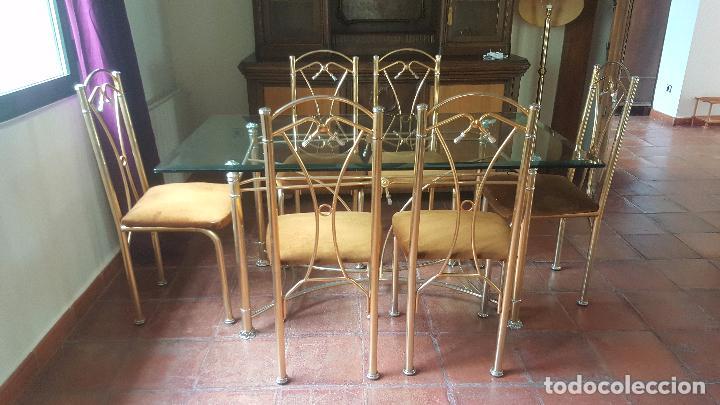 comedor vintage realizado en hierro con baño de - Comprar Muebles ...