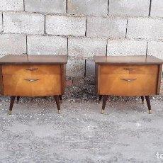Vintage: 2 MESILLAS DE DORMITORIO CARLO DI CARLI ESTILO DANES NÓRDICO MESITAS ANTIGUAS RETRO VINTAGE MUEBLE. Lote 101333987