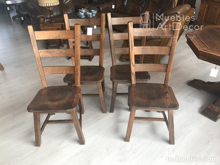 sillas de madera maciza. rústicas - Comprar Muebles vintage en ...