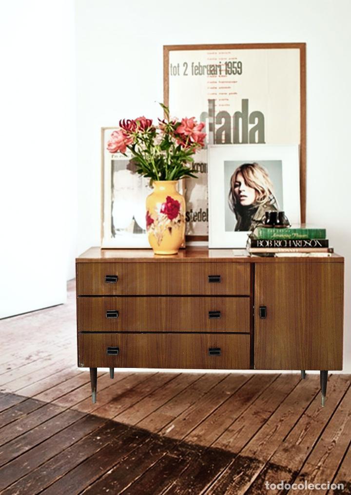 Mueble aparador comoda cajones escandinavo a os comprar for Muebles nordicos online