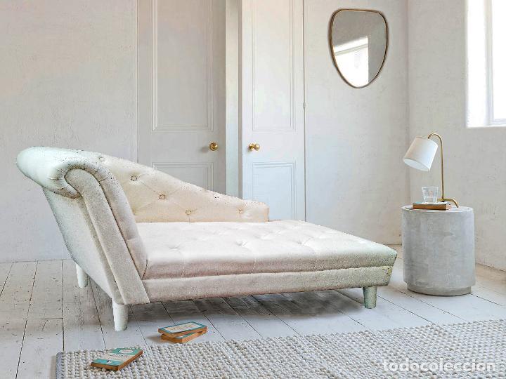 Sillon chaise longe tumbona capitone blanco ent comprar for Recogida muebles gratis madrid