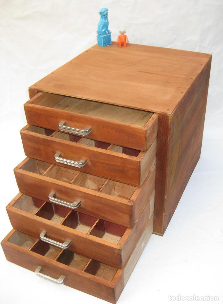 mueble madera 4 cajones cajonera antiguo oficio - Comprar Muebles ...