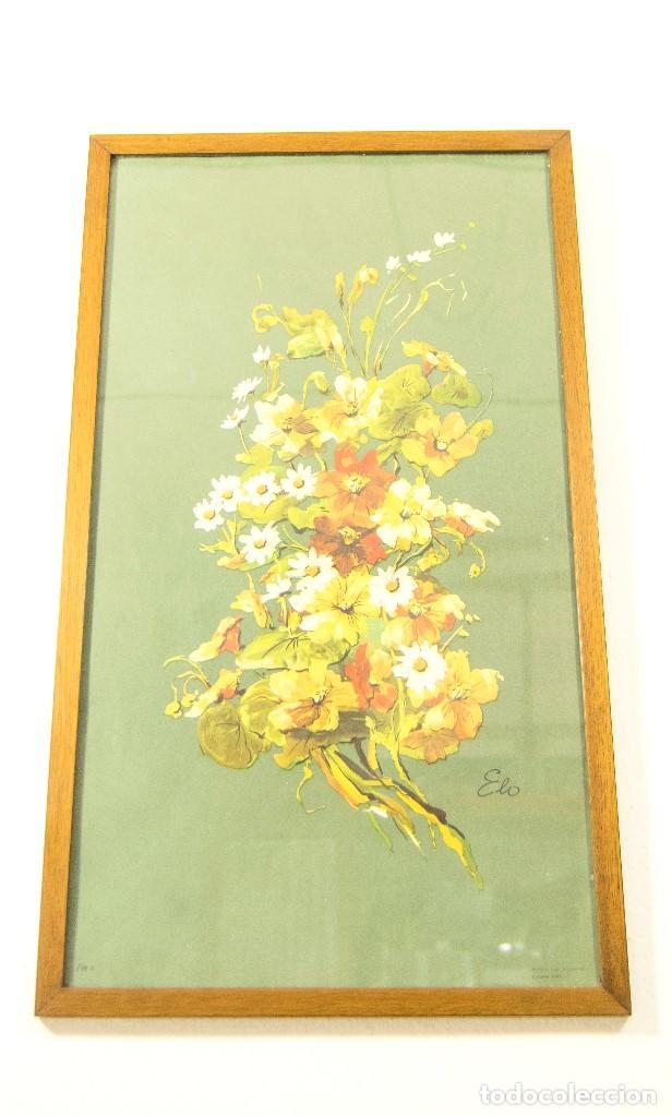 Pareja de cuadros vintage flores retro atrezo d comprar - Laminas antiguas para cuadros ...