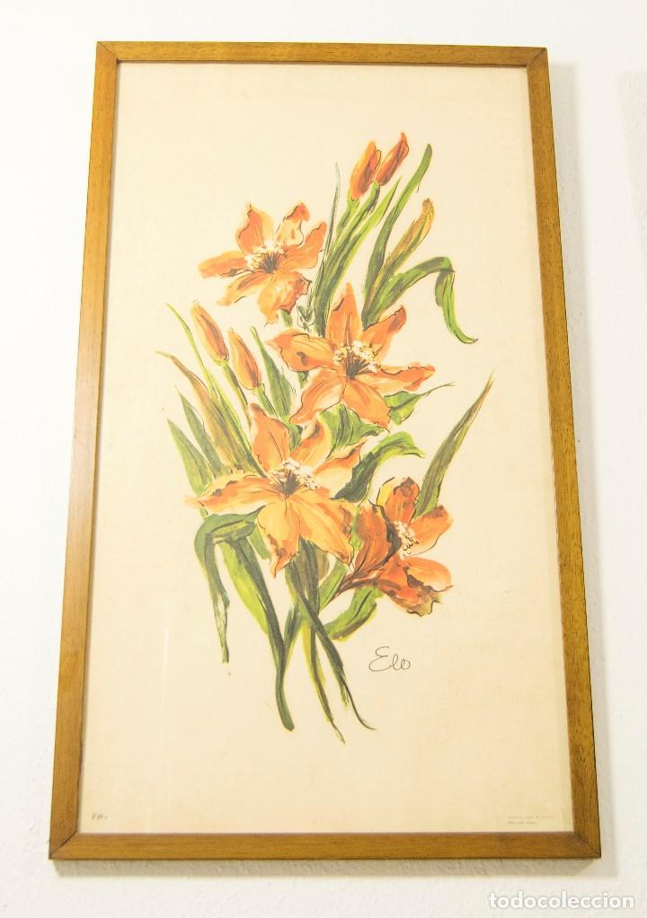 Pareja de cuadros vintage flores retro atrezo d comprar - Cuadros shabby chic ...