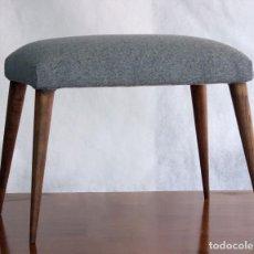 Vintage: TABURETE DE ROBLE, REPOSAPIÉS AÑOS 50 MITAD DE SIGLO XX. MID-CENTURY MODERN.. Lote 102940467