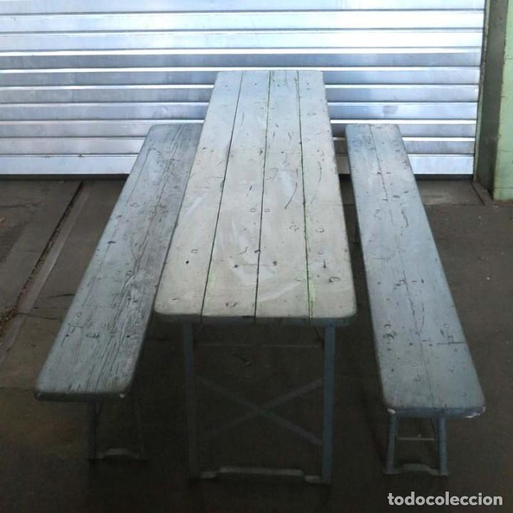 conjunto de mesa y bancos plegables vintage de - Comprar Muebles ...
