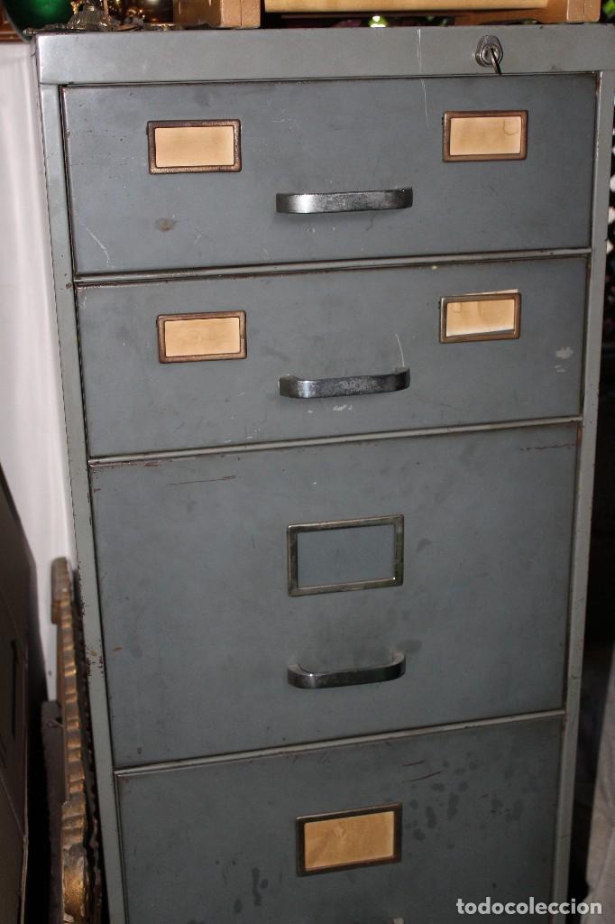 ARCHIVADOR INDUSTRIAL VINTAGE DE OFICINA RETRO NO SE ENVÍA (Vintage - Muebles)