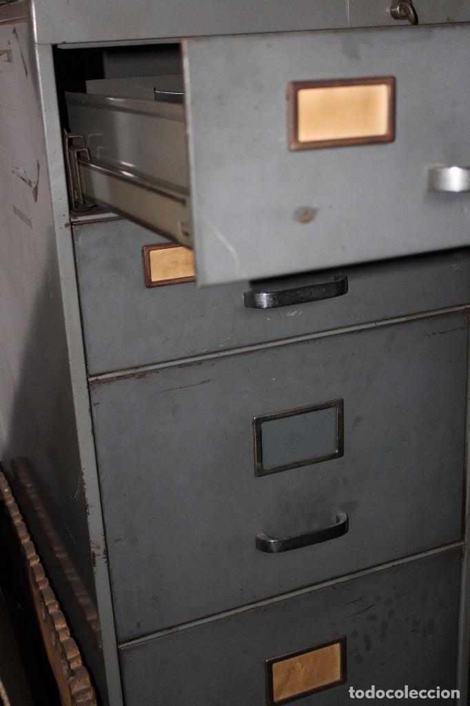 Vintage: ARCHIVADOR INDUSTRIAL VINTAGE DE OFICINA RETRO NO SE ENVÍA - Foto 3 - 103967367