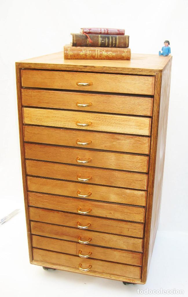 Mueble de merceria restaurado vintage cajonera comprar for Muebles online vintage