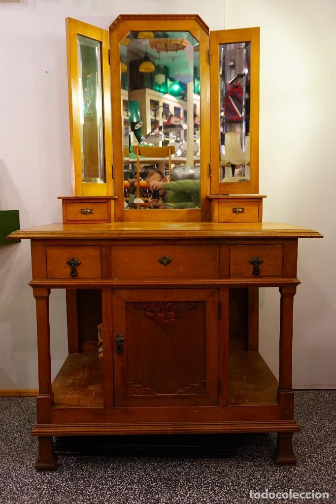 Tocador antiguo mueble modernista vintage art d comprar for Muebles modernistas