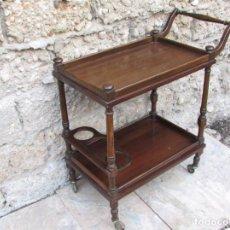 Vintage: MUEBLE CAMARERA 79 X 75 X 38 COLOR NOGAL. Lote 105247171
