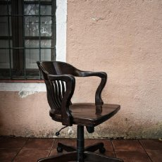 Vintage: SILLON AMERICANO MACIZO CON RUEDAS REGULABLE, TRANSPORTE GRATIS COMUNIDAD DE MADRID. Lote 117264304