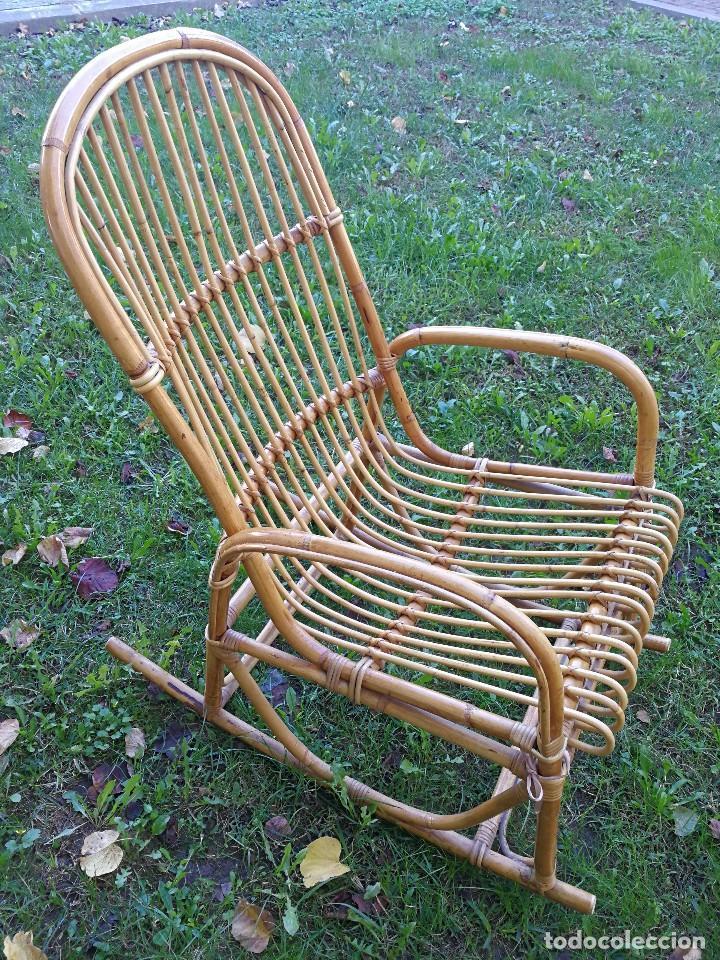 sillón balancín mecedora de caña nataural para - Comprar Muebles ...