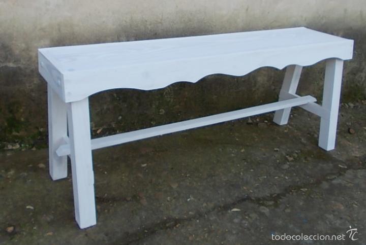 banco de madera rustico de 120 cm de ancho, bla - Comprar Muebles ...