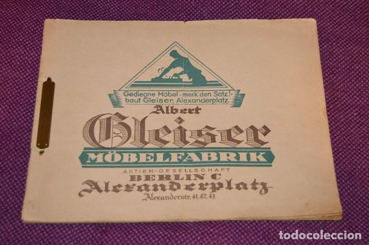 Vintage: ANTIGUA REVISTA - CATÁLOGO DE MUEBLES ART DECO - PRINCIPIOS 1900 - ALBERT GLEISER MÖBELFABRIC BERLIN - Foto 11 - 107452955