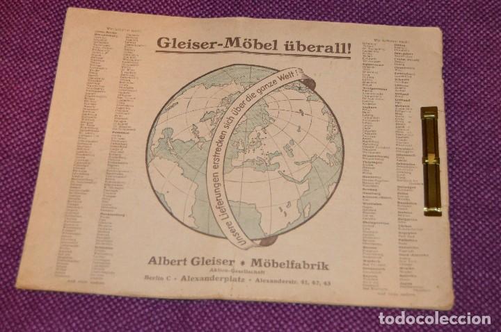 Vintage: ANTIGUA REVISTA - CATÁLOGO DE MUEBLES ART DECO - PRINCIPIOS 1900 - ALBERT GLEISER MÖBELFABRIC BERLIN - Foto 2 - 107452955