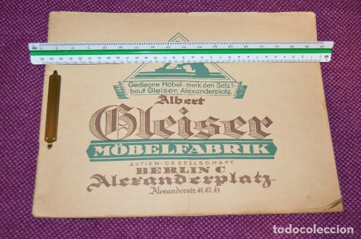 Vintage: ANTIGUA REVISTA - CATÁLOGO DE MUEBLES ART DECO - PRINCIPIOS 1900 - ALBERT GLEISER MÖBELFABRIC BERLIN - Foto 3 - 107452955