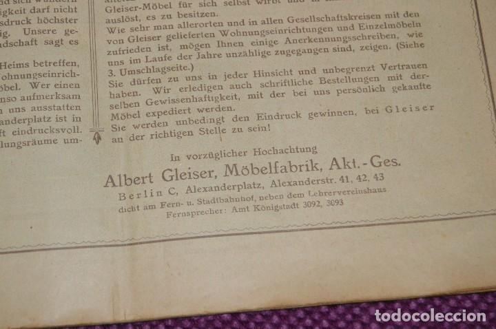 Vintage: ANTIGUA REVISTA - CATÁLOGO DE MUEBLES ART DECO - PRINCIPIOS 1900 - ALBERT GLEISER MÖBELFABRIC BERLIN - Foto 5 - 107452955