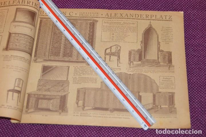 Vintage: ANTIGUA REVISTA - CATÁLOGO DE MUEBLES ART DECO - PRINCIPIOS 1900 - ALBERT GLEISER MÖBELFABRIC BERLIN - Foto 8 - 107452955