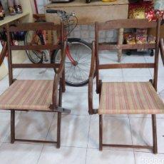 Vintage - Par de hamacas o sillones madera noble plegables - 107724854