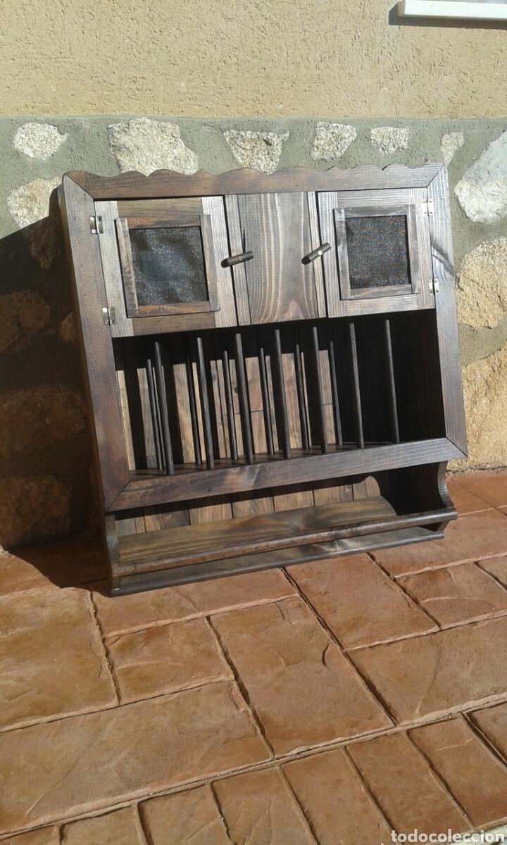 platero de madera maciza rustico, mueble para t - Comprar Muebles ...