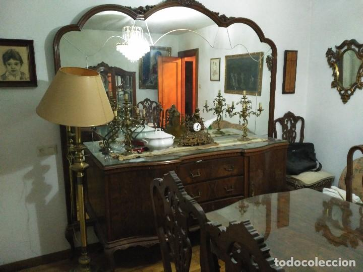 comedor muebles de madera de roble con mural de - Kaufen Vintage ...