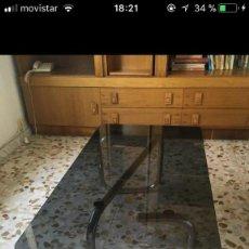 Vintage: MESA VINTAGE DE CRISTAL Y ACERO. Lote 108262747