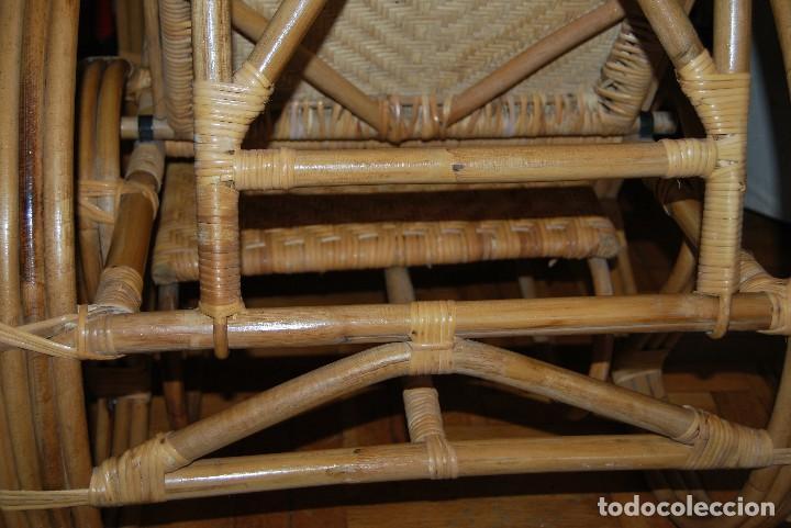 Vintage: IMPRESIONANTE TUMBONA DE RATÁN - PLEGABLE - SILLA - BUTACA - AÑOS 60 - Foto 20 - 109927235