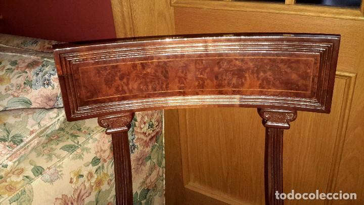 Vintage: 4 sillas de Arte España madera de raiz - Foto 2 - 110018343
