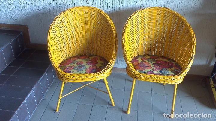 Pareja De Sillas Infantiles Pintadas En Amaril Comprar Muebles