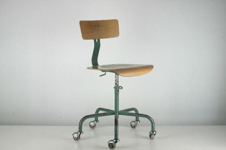 taburete vintage silla giratoria metal madera r - Comprar Muebles ...