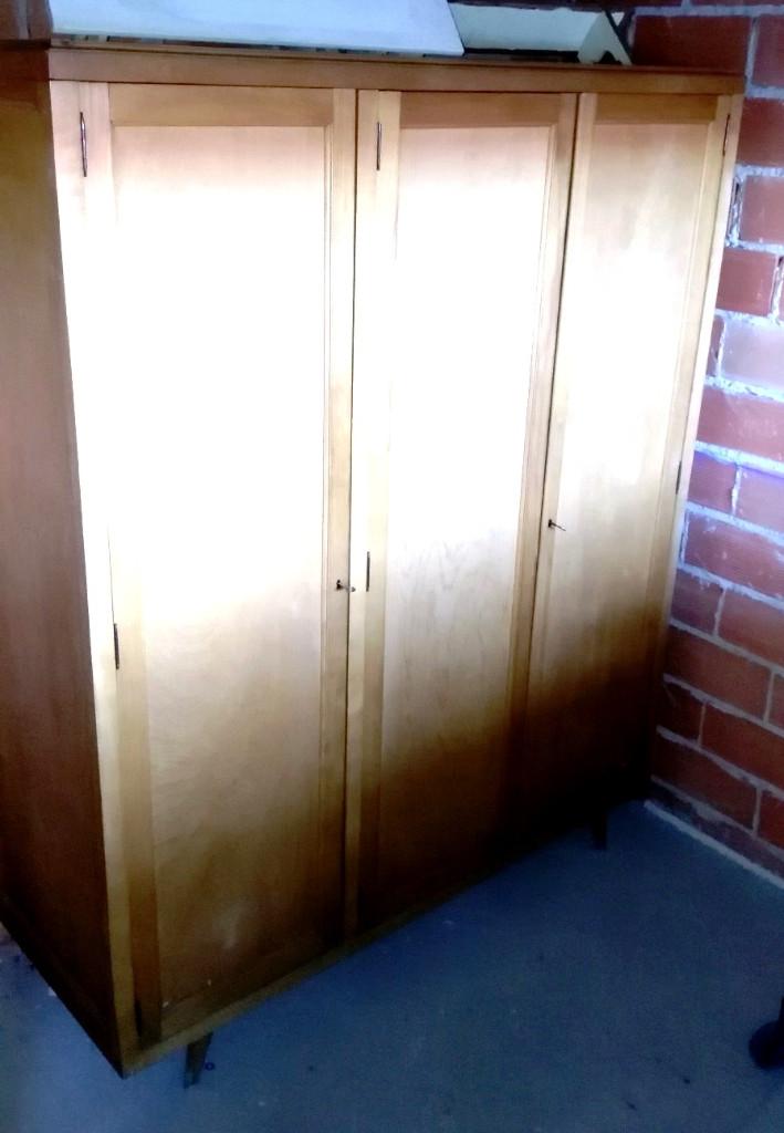 Vintage: ARMARIO de tres puertas, en madera de haya natural- - Foto 4 - 110823979