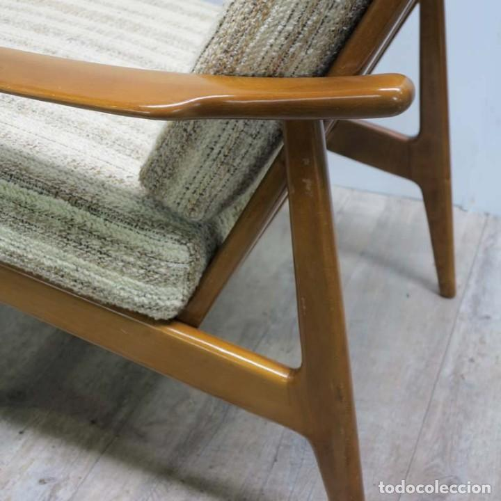 Vintage: Silla con brazos, sillon, butaca de estilo escandinavo. 1960 - 1965 - Foto 3 - 173824159
