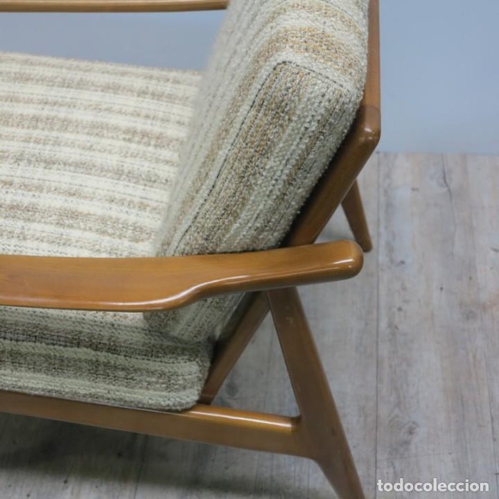 Vintage: Silla con brazos, sillon, butaca de estilo escandinavo. 1960 - 1965 - Foto 7 - 173824159