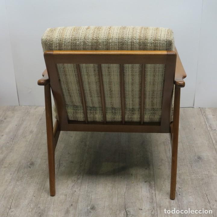 Vintage: Silla con brazos, sillon, butaca de estilo escandinavo. 1960 - 1965 - Foto 9 - 173824159