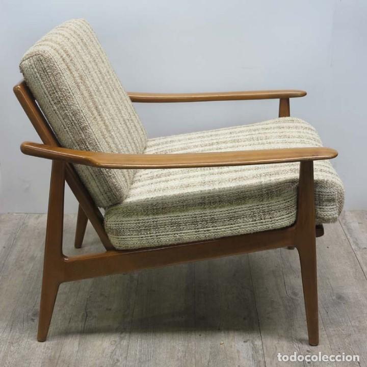 Vintage: Silla con brazos, sillon, butaca de estilo escandinavo. 1960 - 1965 - Foto 10 - 173824159