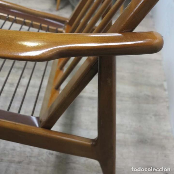 Vintage: Silla con brazos, sillon, butaca de estilo escandinavo. 1960 - 1965 - Foto 14 - 173824159