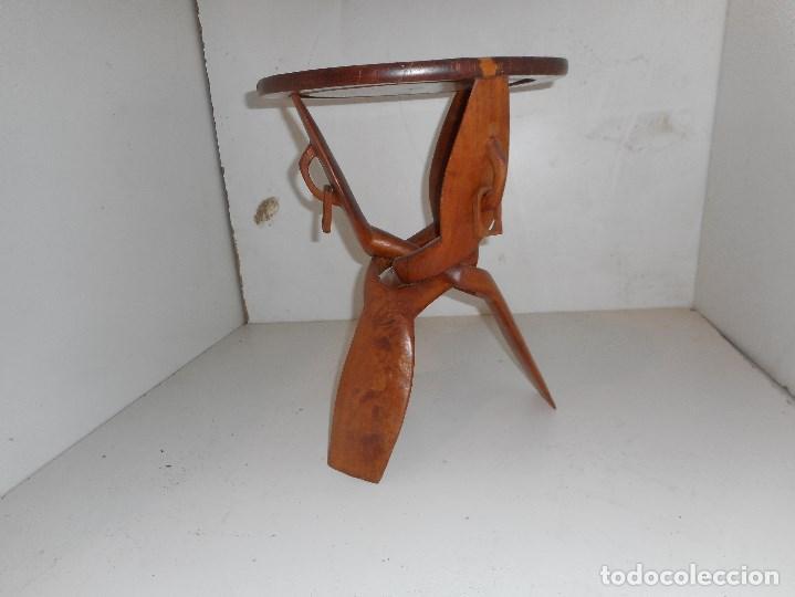 Mesa Madera Africana Plegable Comprar Muebles Vintage En