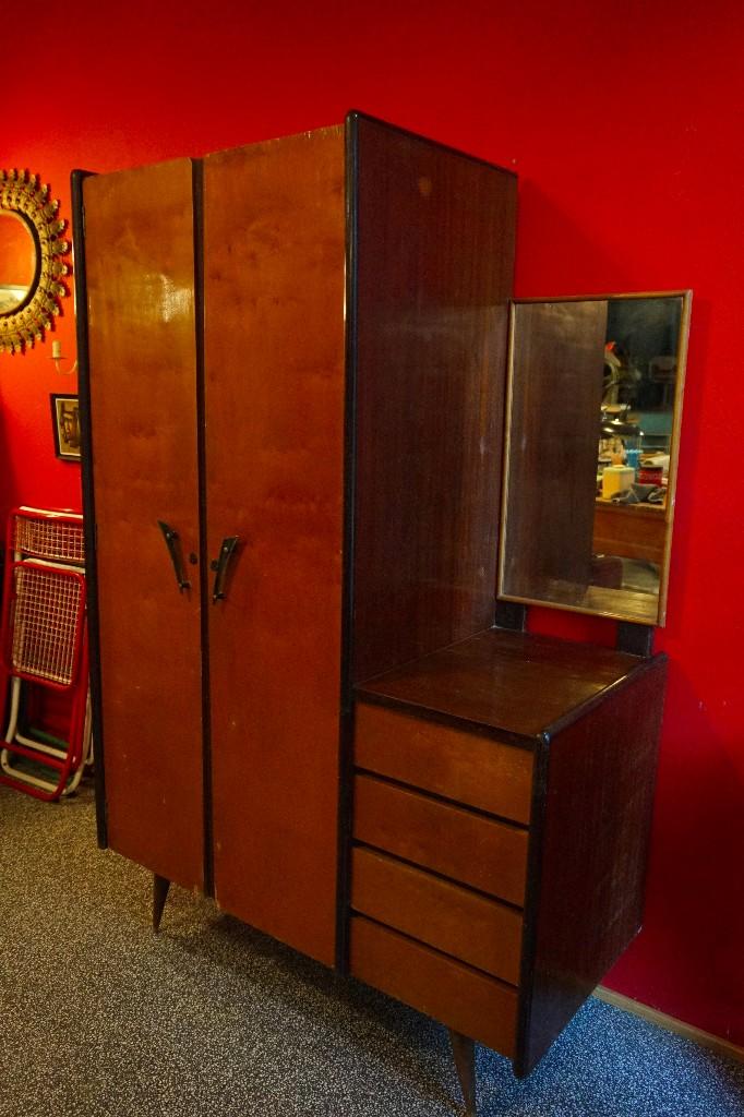 Armario ropero vintage antiguo a os 50 rockabil comprar muebles vintage en todocoleccion - Armario ropero antiguo ...