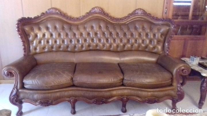 Sof 3 plazas piel estilo franc s comprar muebles - Sofa piel vintage ...