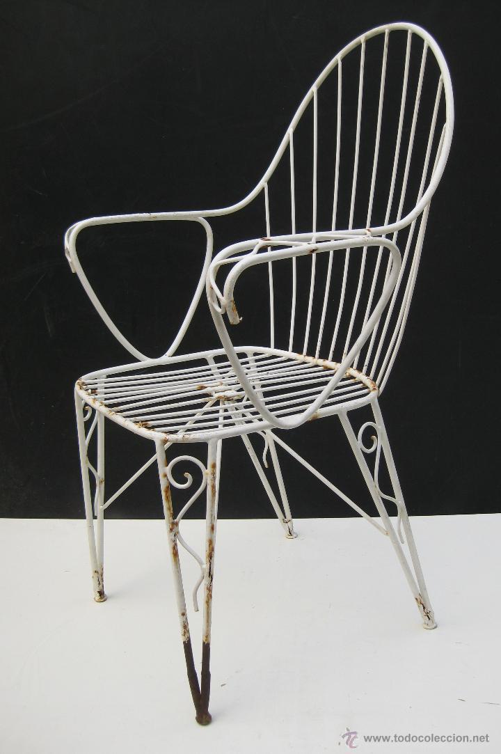 4 sillas vintage hierro forja dise o a os 60 comprar - Sillas anos 60 ...